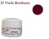 GEL UV COLORATI SENZA DISPERSIONE WETLOOK 21 VIOLA BORDEAUX