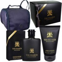 COFANETTO TRUSSARDI BLACK 50ml EDT+1 DOCCIA GEL 100ml+ BEAUTY