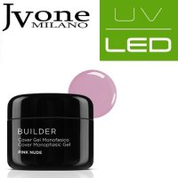JVONE MILANO UV/LED SYSTEM COVER GEL MONOFASICO PINK NUDE 15 ML