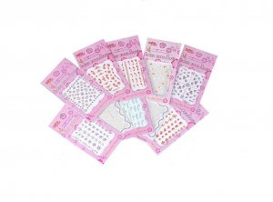 STICKERS NAIL ART - 5 BUSTINE ASSORTITE