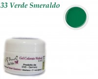GEL UV COLORATI SENZA DISPERSIONE WETLOOK 33 VERDE SMERALDO