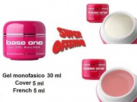 BASE ONE SILCARE KIT GEL MONOFASICO, FRENCH E COVER