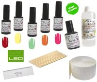 KIT UNGHIE SMALTO GEL SEMIPERMANENTE NAILS POLISH