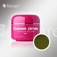 SILCARE BASE ONE GEL COLOR UNGHIE 21 GREEN OLIVE