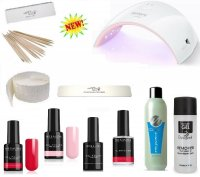 KIT UNGHIE SMALTO SEMIPERMANENTE NAILS POLISH LED / UV MESAUDA
