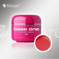 SILCARE BASE ONE GEL COLOR UNGHIE 47 SPICY RED