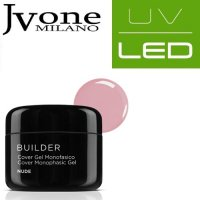 JVONE MILANO UV/LED SYSTEM COVER GEL MONOFASICO NUDE 15 ML