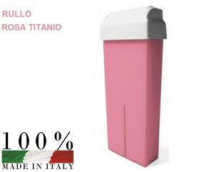 CERA DEPILATORIA LIPOSOLUBILE ROSA TITANIO RULLO DA 100 ML