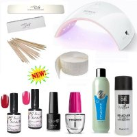 KIT UNGHIE SMALTO GEL SEMIPERMANENTE NAILS POLISH LED / UV