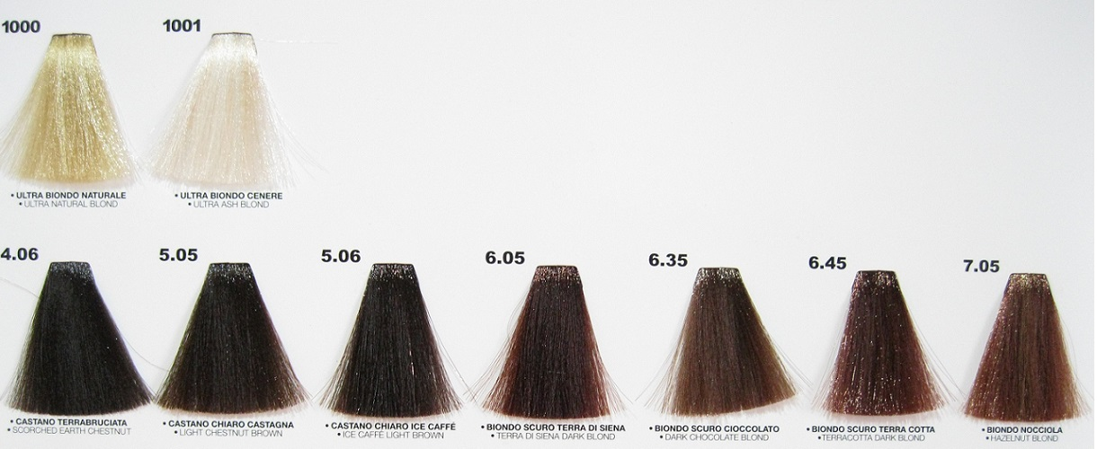 Colore tintura in crema per capelli proteo line ptl 2 for Cartella colori dikson